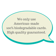100% biodegradable plastic cards