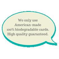 100% biodegradable plastic cards
