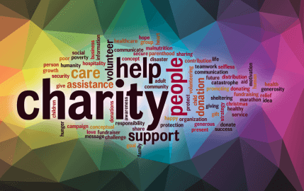 Colorful Charity Word Cloud
