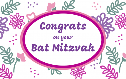 Congrats on your Bat Mitzvah purple