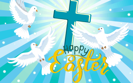 Happy Easter Doves