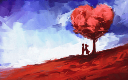 Couple Under The Tree Of Love