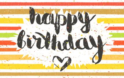 Happy Birthday Stripes