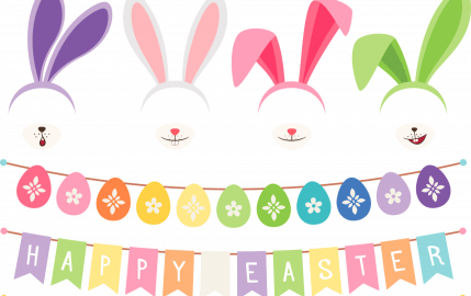 Happy Easter Bunnies and Bunting