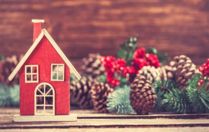 Pinecone Christmas House