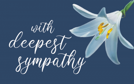With Deepest Sympathy Lilly